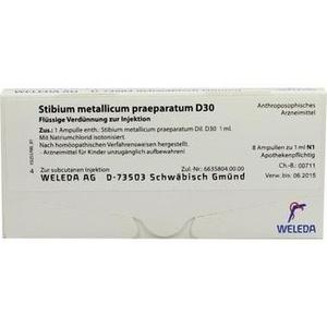 STIBIUM MET. PRAEPARATUM D 30 Ampullen