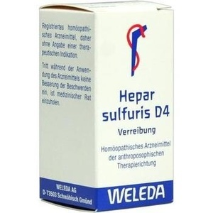 HEPAR SULFURIS D 4 Trituration