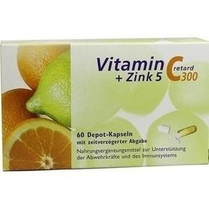 VITAMIN C 300+Zink 5 retard Kapseln