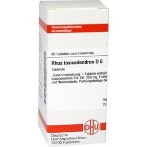 Rhus Toxicodendron D6 Tabletten