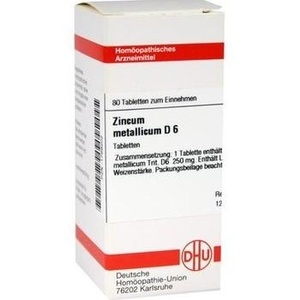 ZINCUM METALLICUM D 6 Tabletten