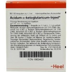 ACIDUM ALPHA-ketoglutaricum Injeel Ampullen