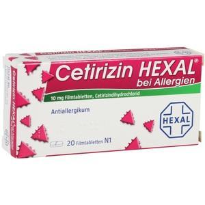 Abbildung von Cetirizin Hexal Bei Allergien  Filmtabletten