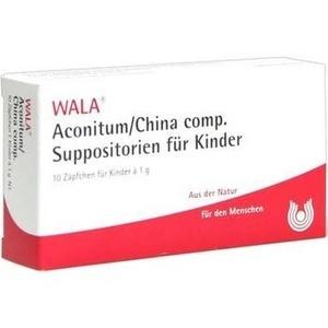 Aconitum/China comp. Suppos. für Kinder, 10x1g