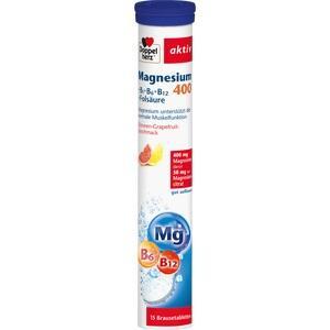 DOPPELHERZ Magnesium 400+B-Vit.+Fols.Brausetabl.