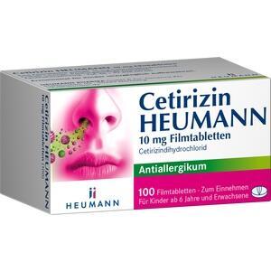 Cetirizin Heumann 10mg Filmtabletten