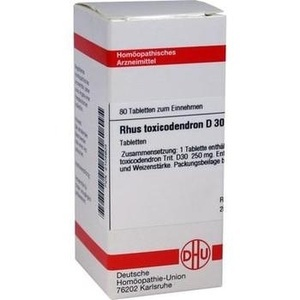 Rhus Toxicodendron D30 Tabletten