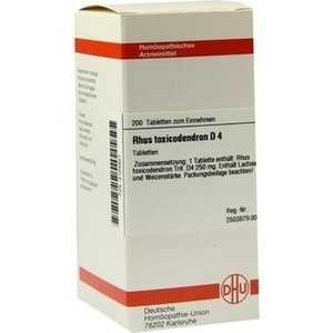 Rhus Toxicodendron D4 Tabletten