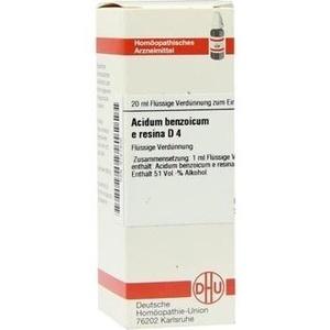 ACIDUM BENZOICUM e Resina D 4 Dilution