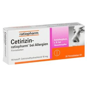 CETIRIZIN-ratiopharm bei Allergien 10 mg Filmtabl.