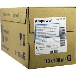 AMPUWA Glasflasche Injektions-/Infusionslösung