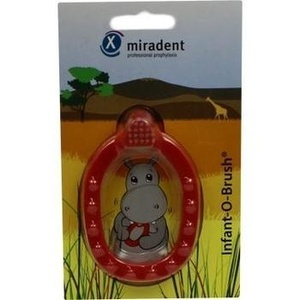 MIRADENT Kinder-Lernzahnbürste Infant-O-Brush rot