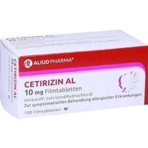 Abbildung von Cetirizin Al 10mg Filmtabletten