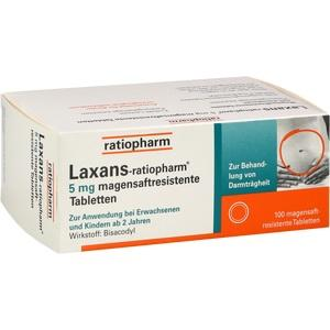 Laxans ratiopharm 5 mg magensaftres.Tabletten