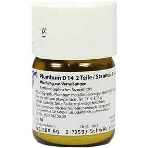 PLUMBUM D14 2 Teile/ STANNUM D14 1Teil Trituration