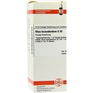 Rhus Toxicodendron D30 Dilution