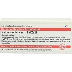 LM NATRIUM sulfuricum XVIII Globuli