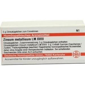 LM ZINCUM metallicum XVIII Globuli