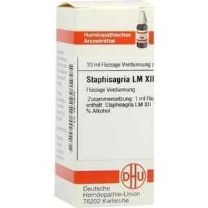 LM STAPHISAGRIA XII Dilution