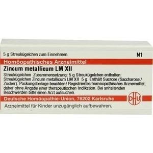 LM ZINCUM metallicum XII Globuli
