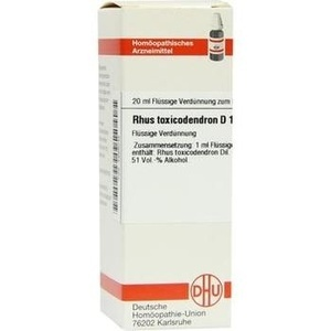 Rhus Toxicodendron D10 Dilution