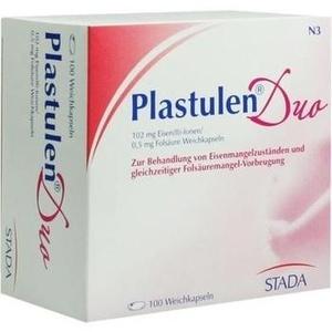 Plastulen Duo 102mg Eisen/0,5mg Folsäure Kapseln