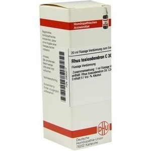 RHUS TOXICODENDRON C 30 Dilution