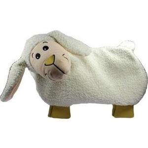 FASHY Wärmflasche Kuschelbezug Lamm flacher Kopf