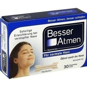 BESSER Atmen Nasenstrips beige groß