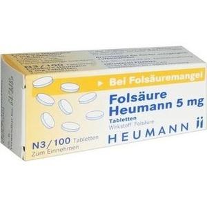 Folsäure Heumann 5mg Tabletten