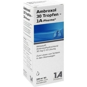 AMBROXOL 30 Tropfen-1A Pharma