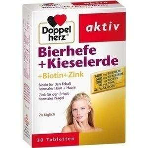 DOPPELHERZ Bierhefe+Kieselerde Tabletten