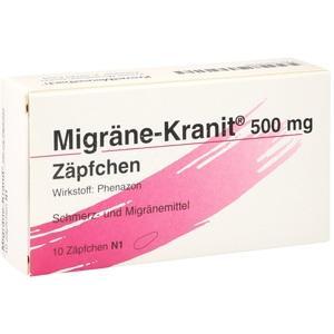 MIGRÄNE KRANIT 500 mg Zäpfchen