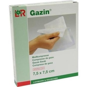GAZIN Mullkomp.7,5x7,5 cm steril 8fach