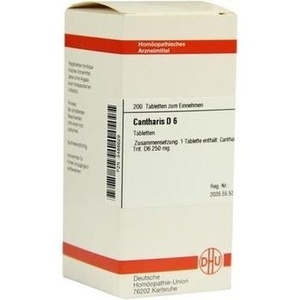 CANTHARIS D 6 Tabletten