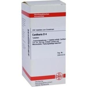 CANTHARIS D 4 Tabletten
