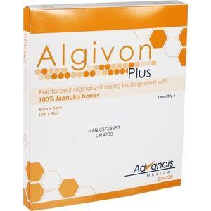 ALGIVON Plus Honigalginat Wundauflage 5x5 cm