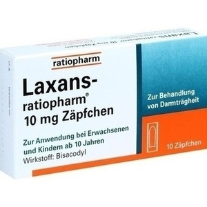 LAXANS-ratiopharm 10 mg Zäpfchen