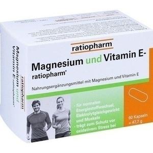 MAGNESIUM UND VITAMIN E-ratiopharm Kapseln