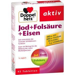 DOPPELHERZ Jod+Folsäure+Eisen Tabletten