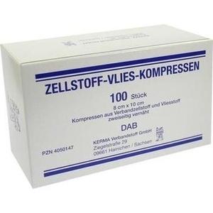 ZELLSTOFF VLIES KOMPRESSEN 8x10 cm unsteril