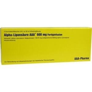 Abbildung von Alpha-liponsäure Aaa 600mg Fertiginfusion  Infusionslösung