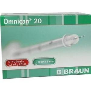 OMNICAN 20 0,5 ml Ins.Spr.m.Kan.0,30x8 mm