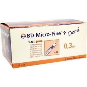BD MICRO-FINE+ U 100 Ins.Spr.0,3x8 mm