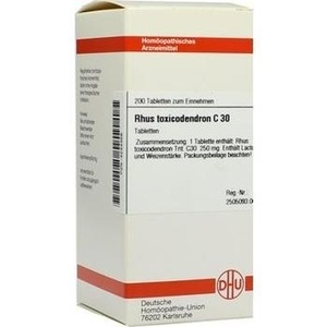 Rhus Toxicodendron C30 Tabletten