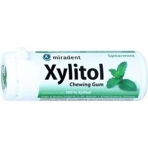 MIRADENT Xylitol Zahnpflegekaugummi Spearmint