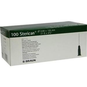 STERICAN Kanülen 21 Gx4 4/5 0,8x120 mm