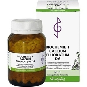 BIOCHEMIE 1 Calcium fluoratum D 6 Tabletten