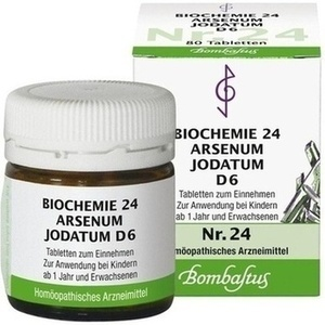 BIOCHEMIE 24 Arsenum jodatum D 6 Tabletten
