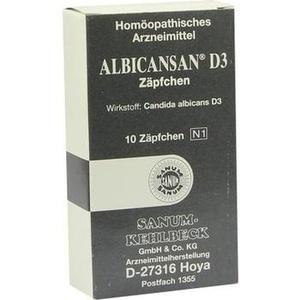ALBICANSAN D 3 Suppositorien